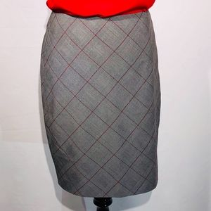 The Limited Grey Red Pencil Skirt (4)